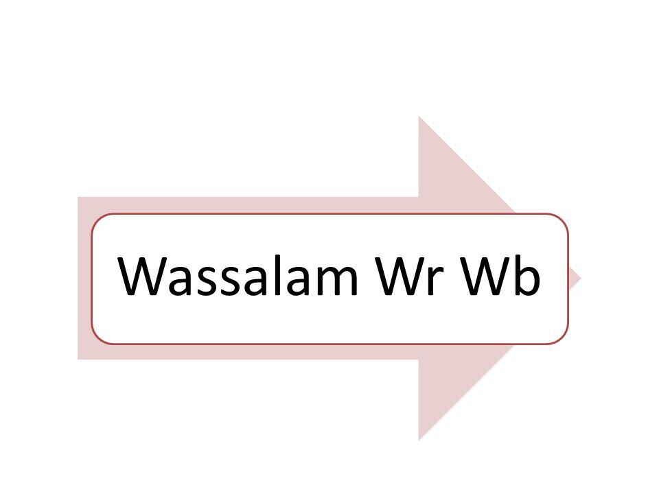 Wassalam Wr Wb