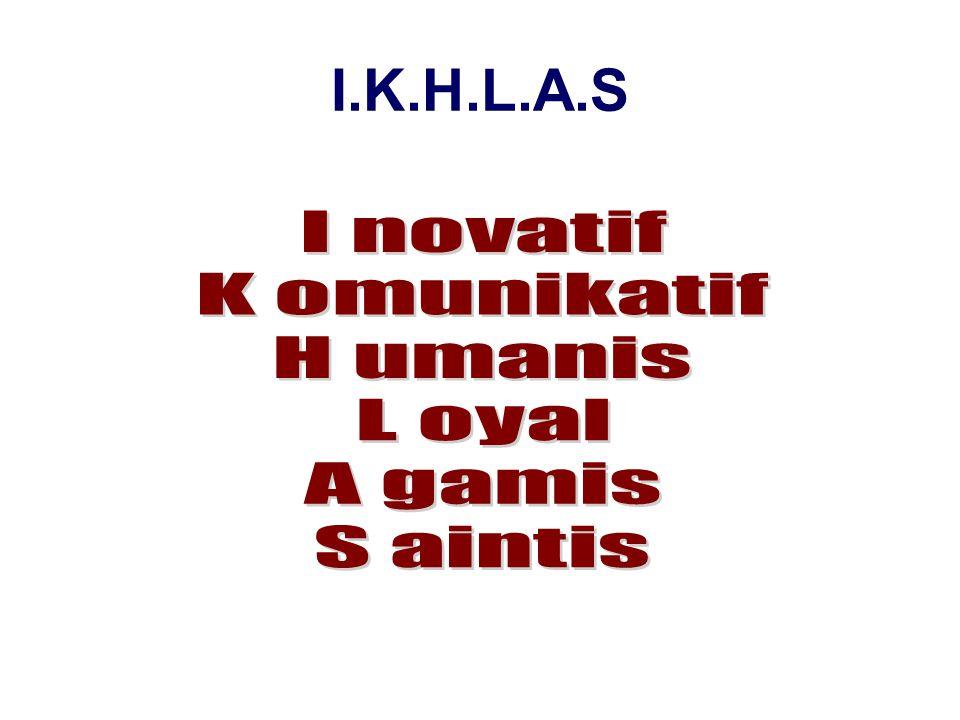 I.K.H.L.A.S I novatif K omunikatif H umanis L oyal A gamis S aintis