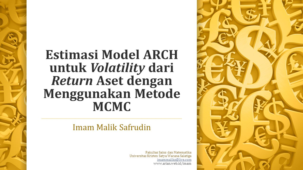 Estimasi Model ARCH untuk Volatility dari Return Aset dengan Menggunakan Metode MCMC