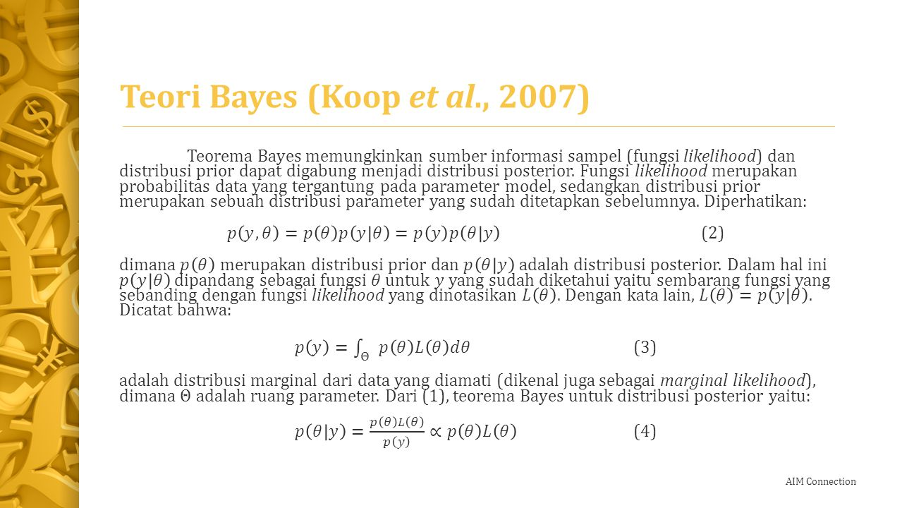 Teori Bayes (Koop et al., 2007)
