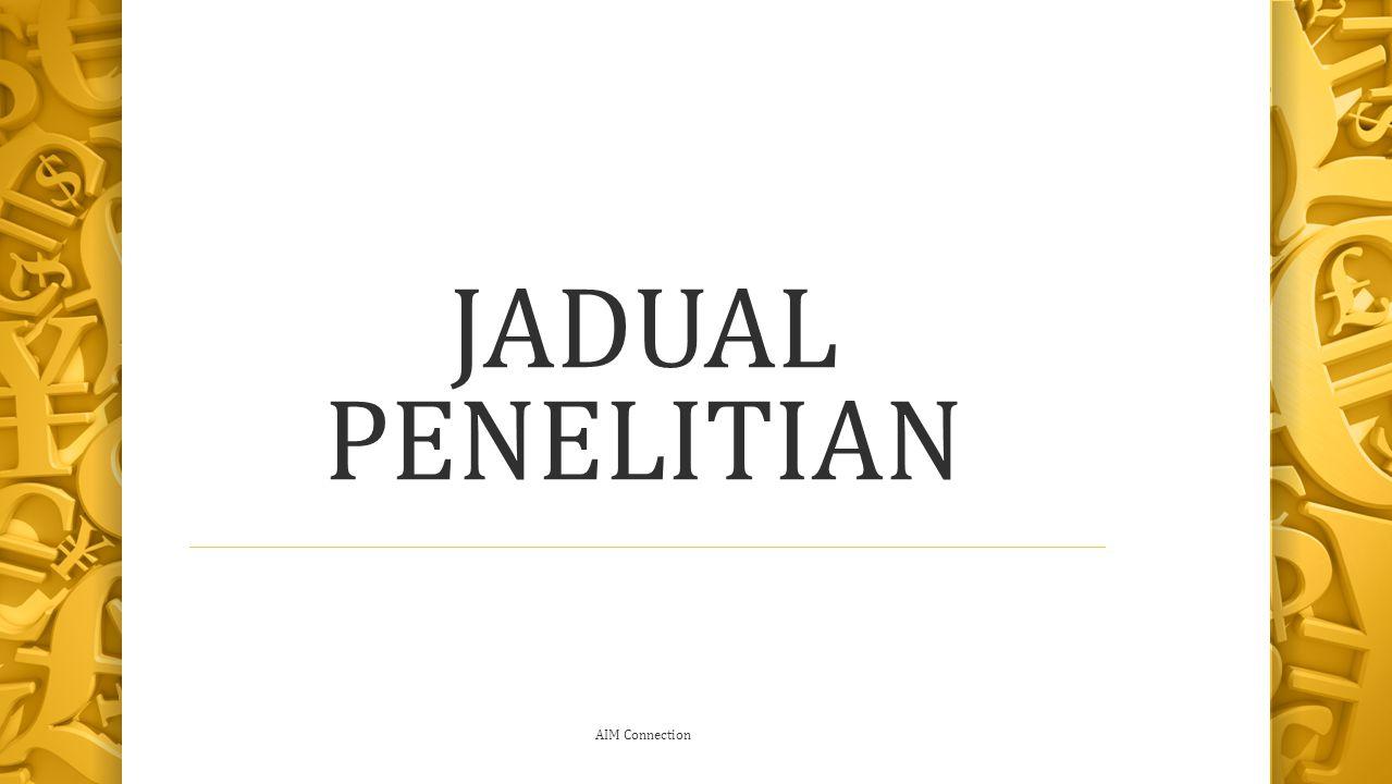 JADUAL PENELITIAN