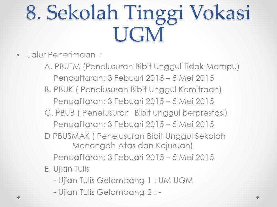 8. Sekolah Tinggi Vokasi UGM