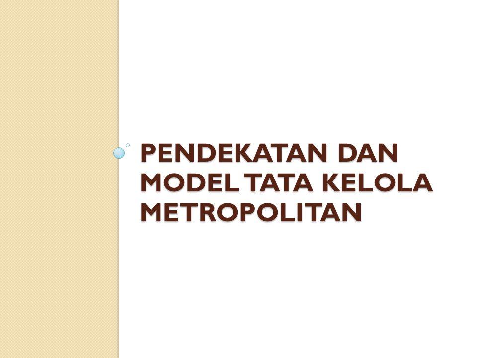 Pendekatan dan Model Tata Kelola Metropolitan