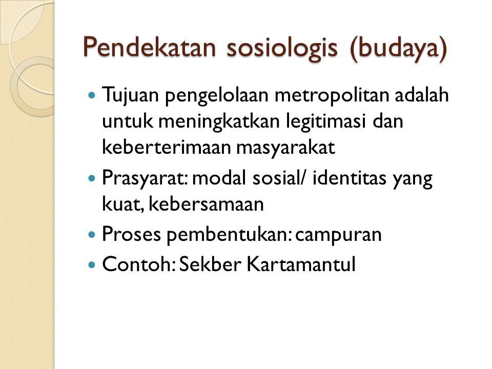 Pendekatan sosiologis (budaya)