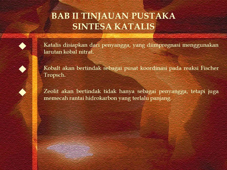 BAB II TINJAUAN PUSTAKA SINTESA KATALIS