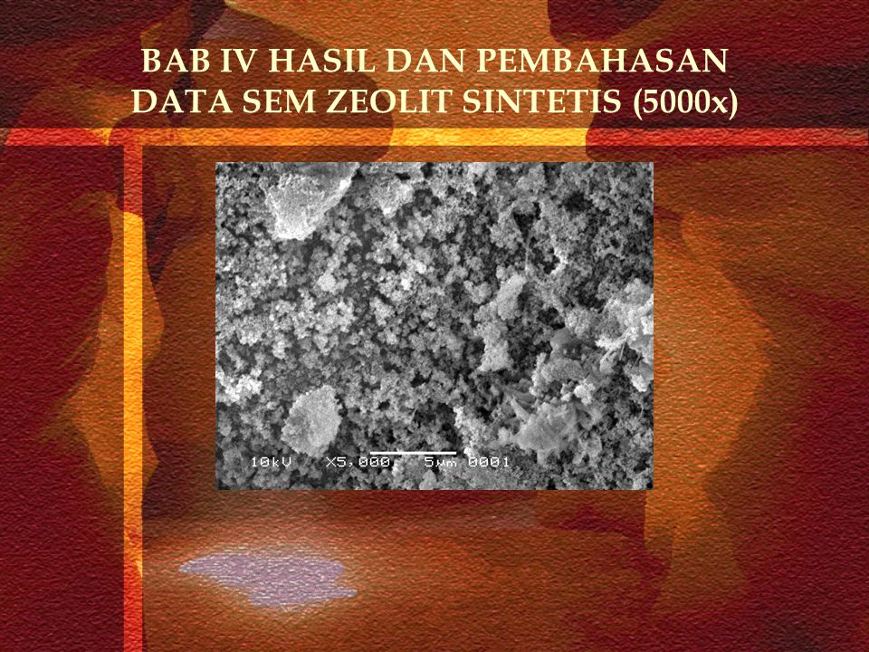 BAB IV HASIL DAN PEMBAHASAN DATA SEM ZEOLIT SINTETIS (5000x)