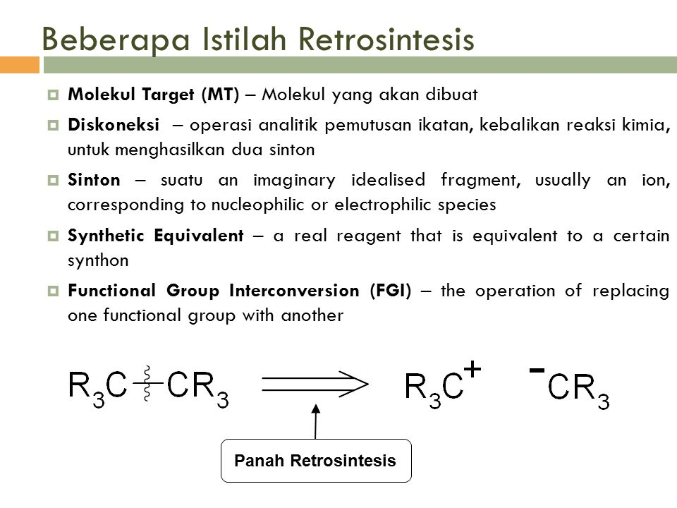 Beberapa Istilah Retrosintesis
