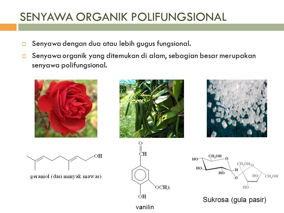 SENYAWA ORGANIK POLIFUNGSIONAL