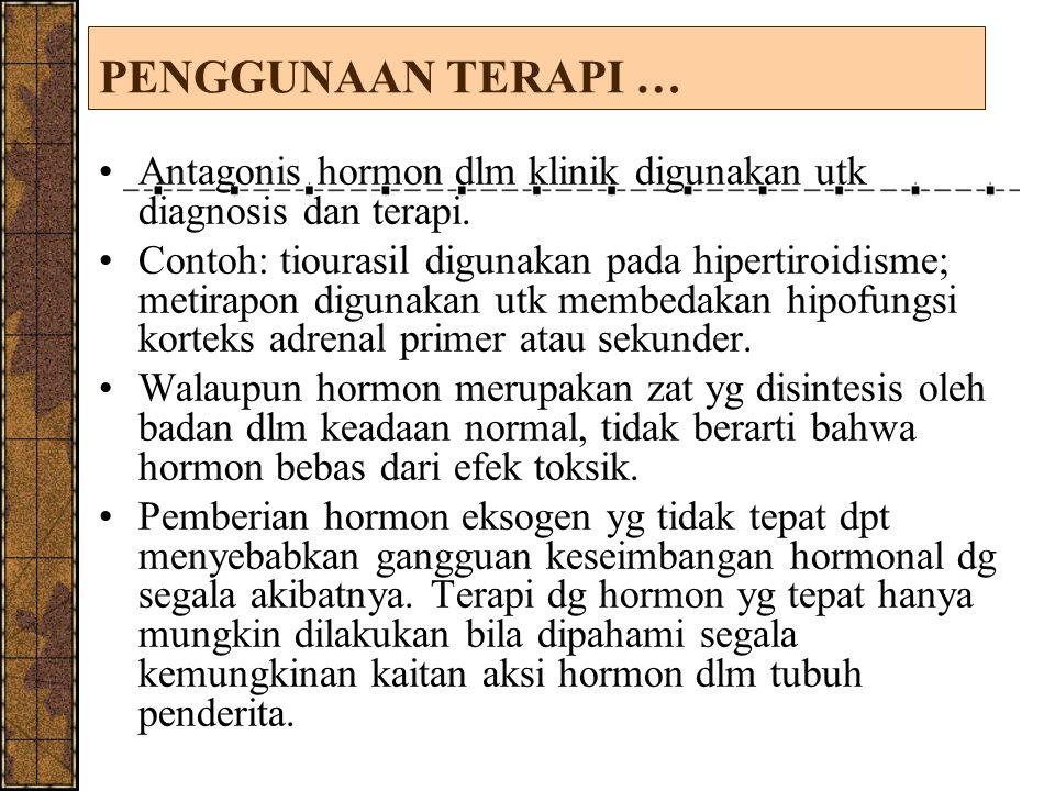 PENGGUNAAN TERAPI … Antagonis hormon dlm klinik digunakan utk diagnosis dan terapi.