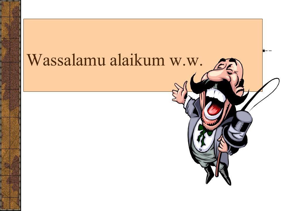 Wassalamu alaikum w.w. 17