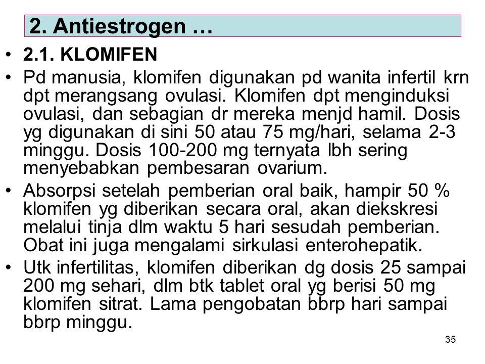 2. Antiestrogen … 2.1. KLOMIFEN