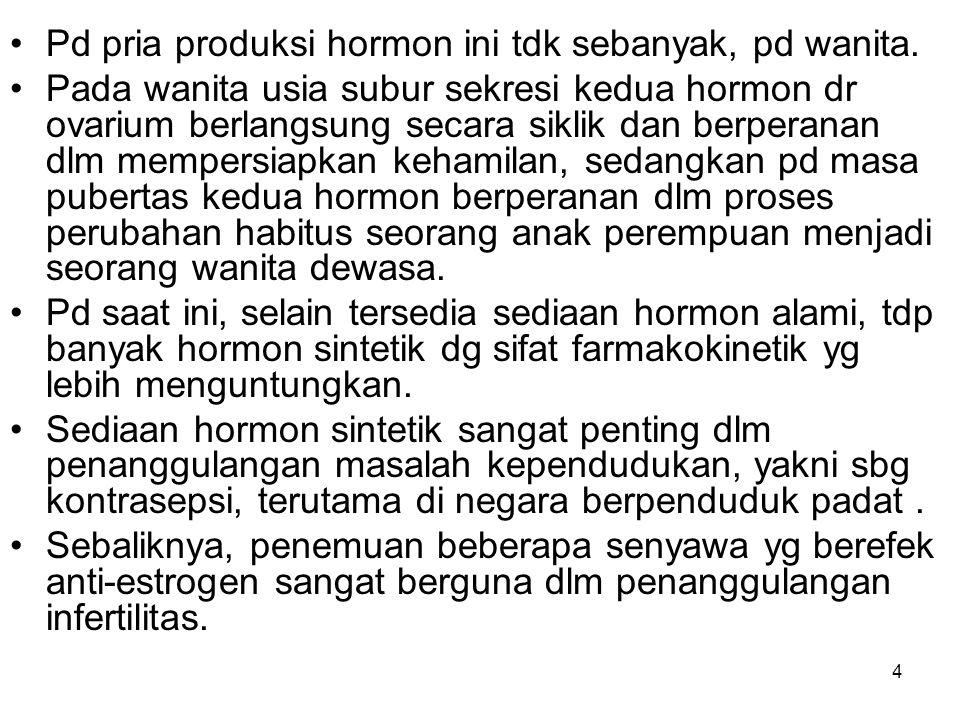 Pd pria produksi hormon ini tdk sebanyak, pd wanita.