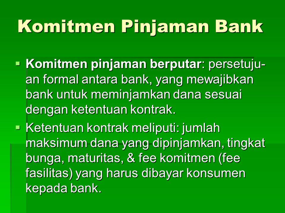 Komitmen Pinjaman Bank