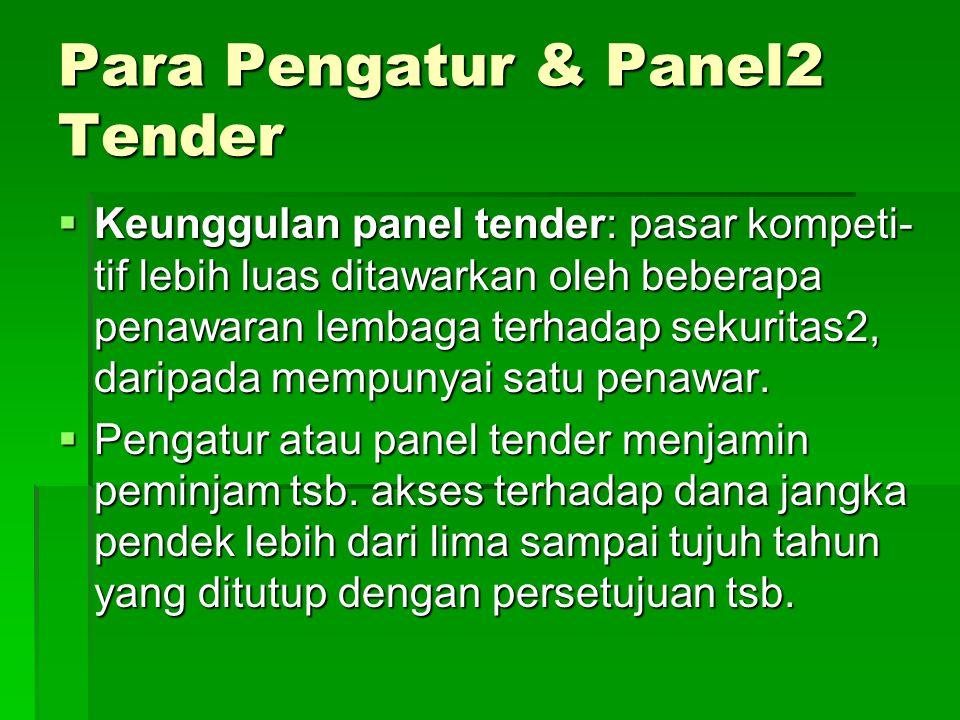 Para Pengatur & Panel2 Tender