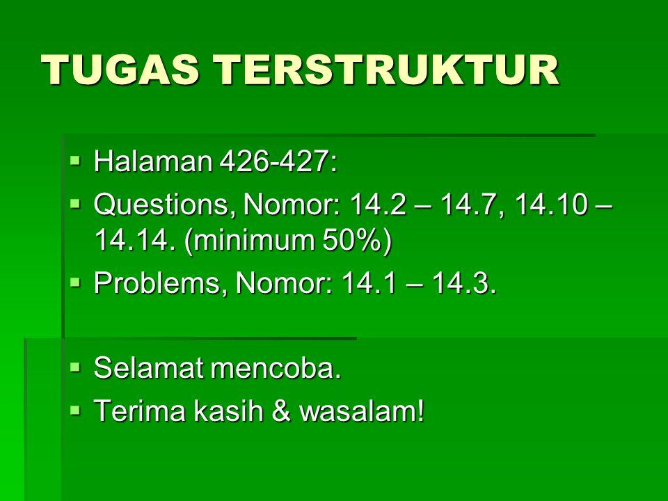 TUGAS TERSTRUKTUR Halaman 426-427: