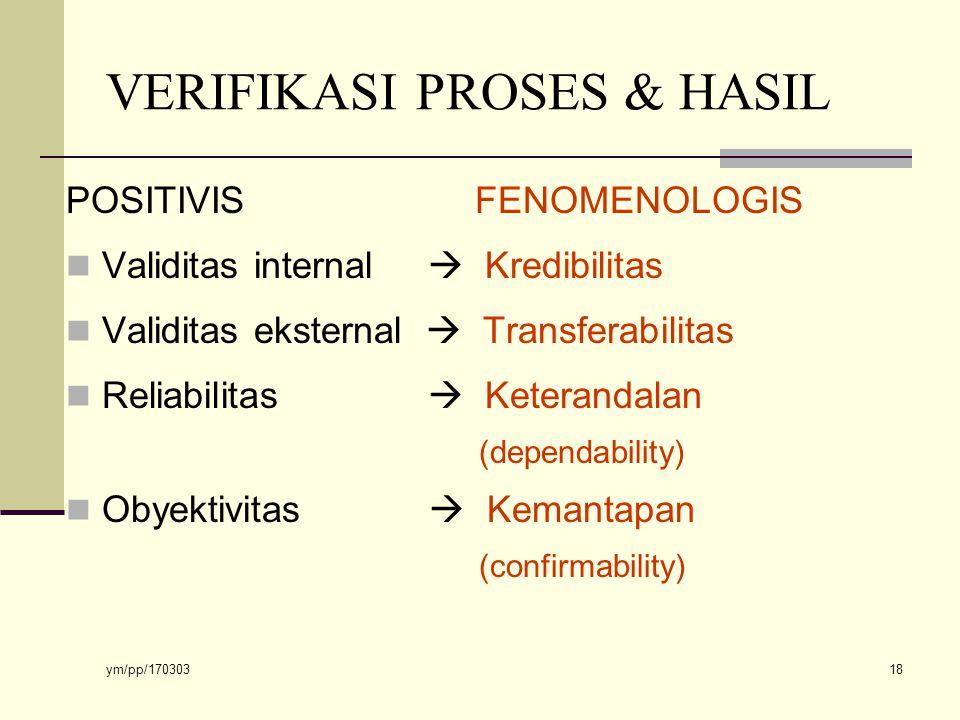 VERIFIKASI PROSES & HASIL