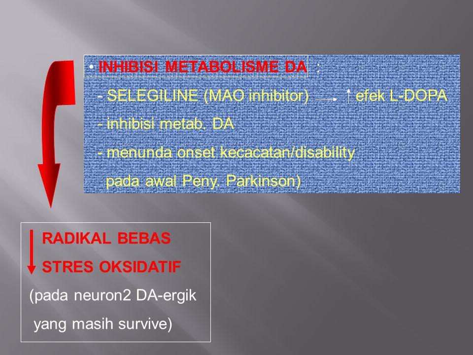INHIBISI METABOLISME DA :