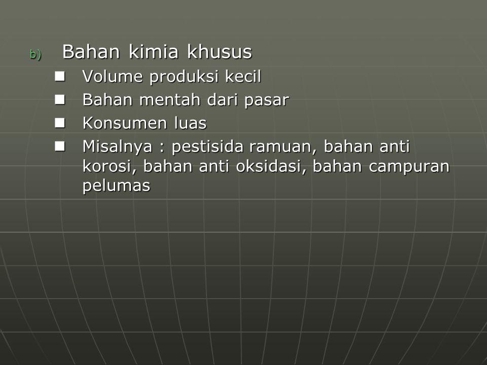 Bahan kimia khusus Volume produksi kecil Bahan mentah dari pasar
