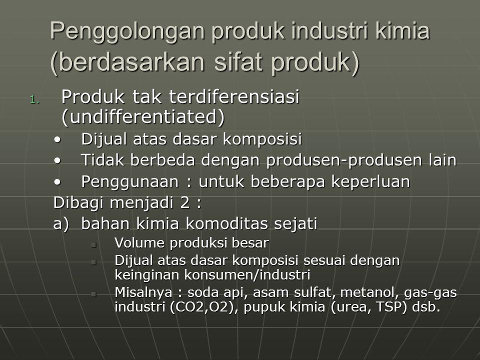 Penggolongan produk industri kimia (berdasarkan sifat produk)