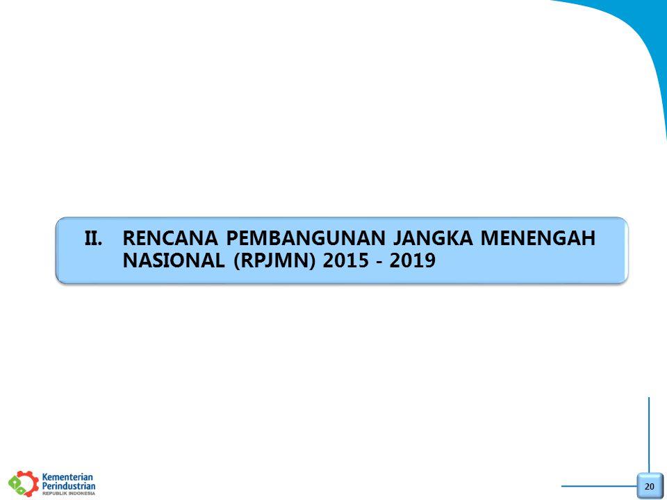 RENCANA PEMBANGUNAN JANGKA MENENGAH NASIONAL (RPJMN) 2015 - 2019
