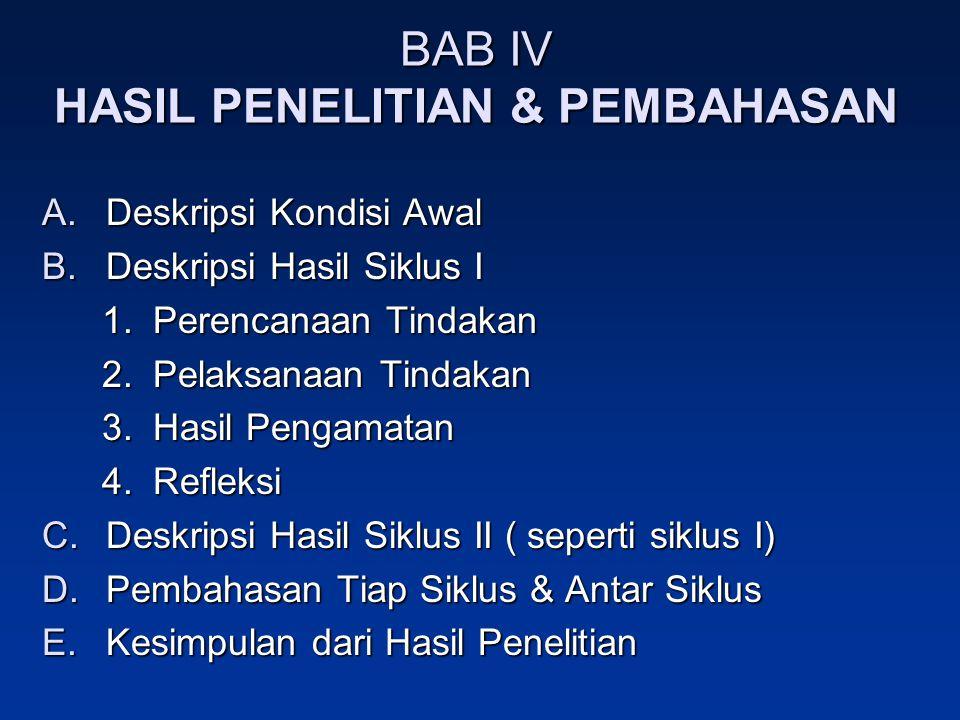 BAB IV HASIL PENELITIAN & PEMBAHASAN