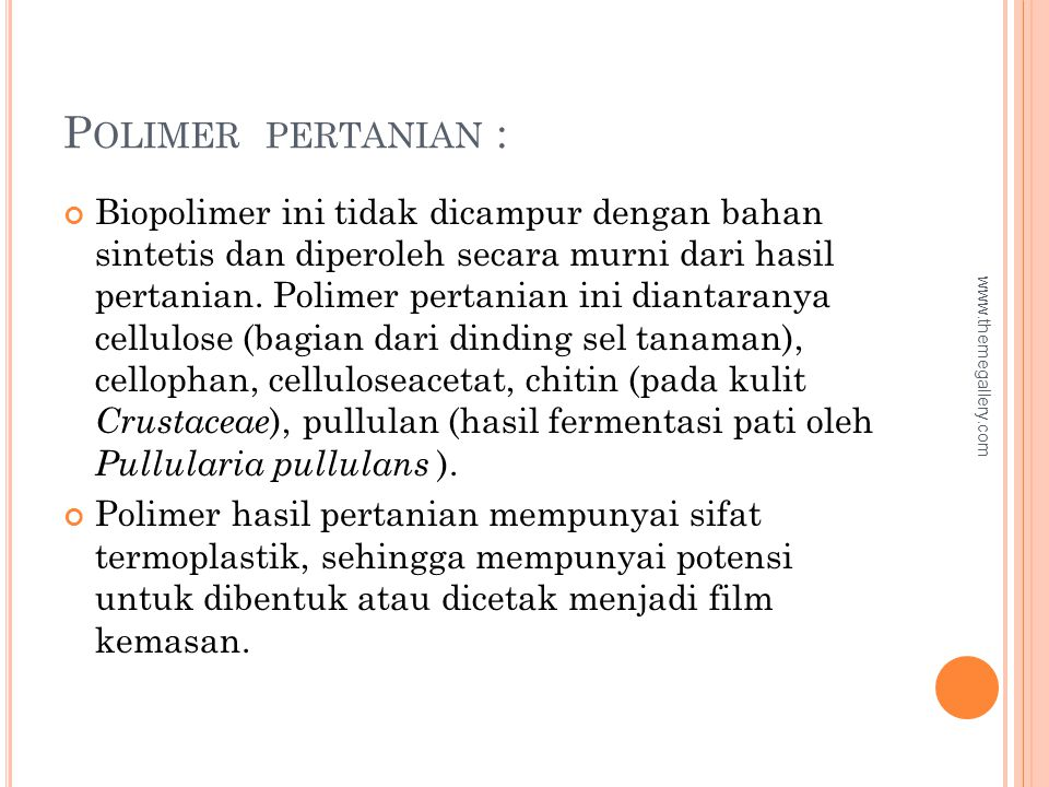 Polimer pertanian :
