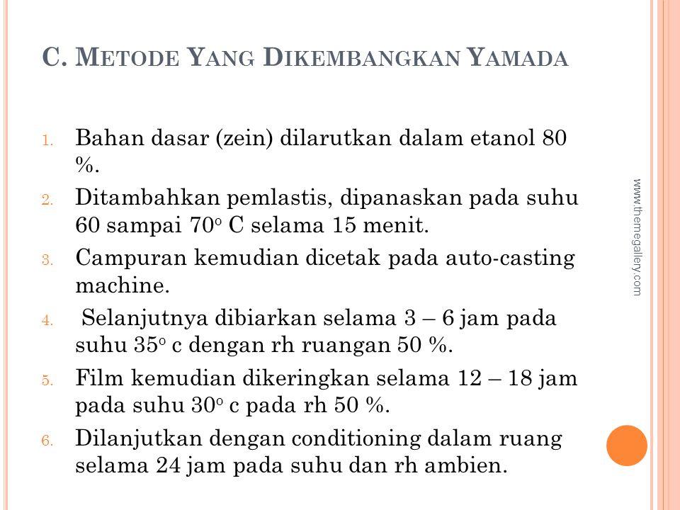C. Metode Yang Dikembangkan Yamada
