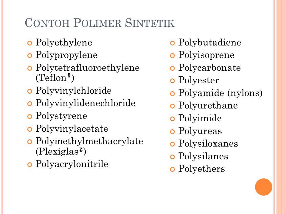 Contoh Polimer Sintetik