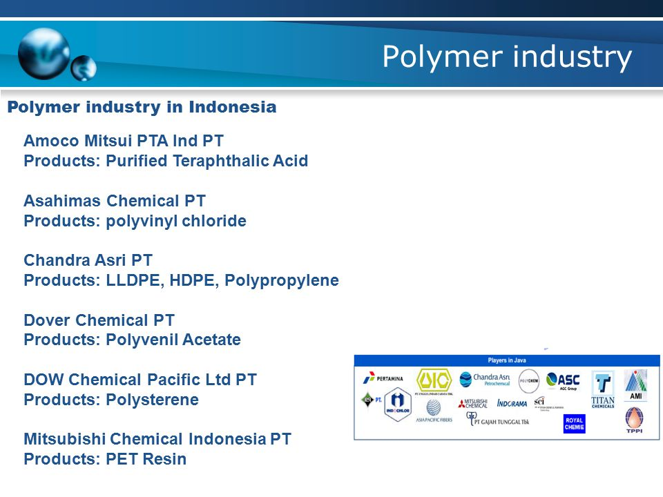 Polymer industry Polymer industry in Indonesia Amoco Mitsui PTA Ind PT