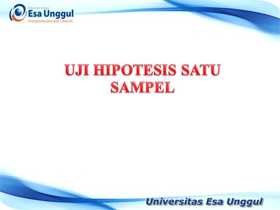 UJI HIPOTESIS SATU SAMPEL