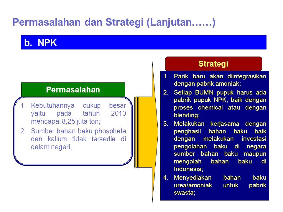 Permasalahan dan Strategi (Lanjutan……)