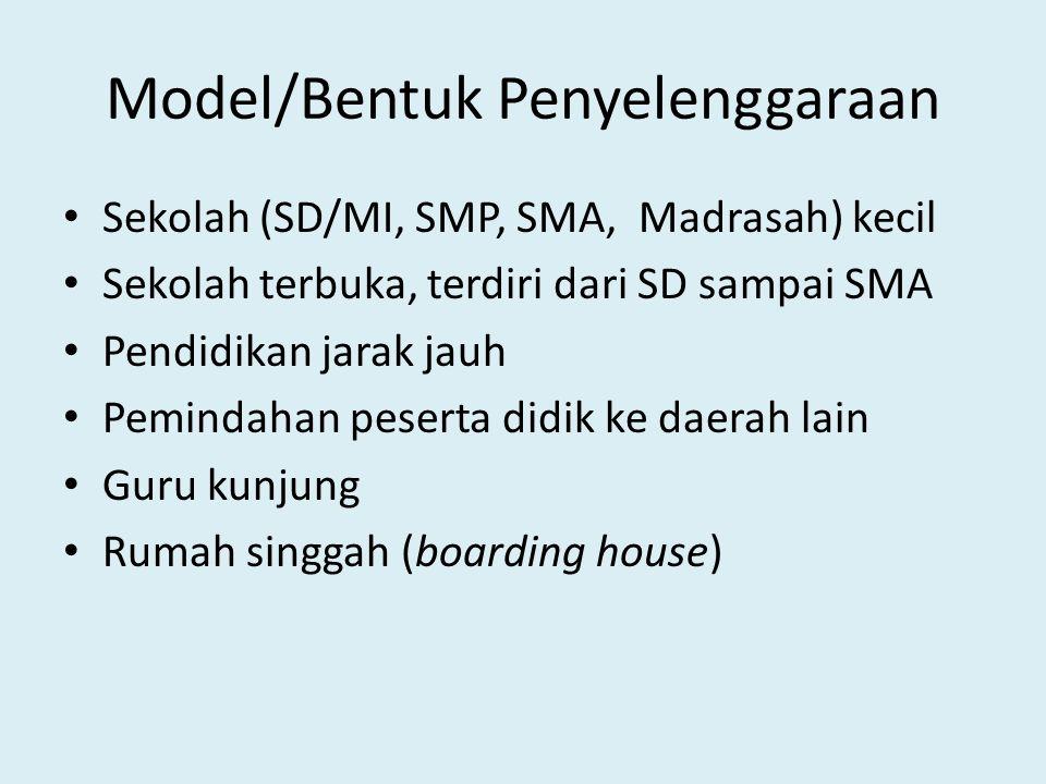 Model/Bentuk Penyelenggaraan