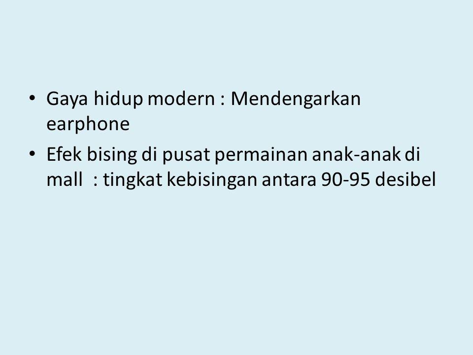 Gaya hidup modern : Mendengarkan earphone