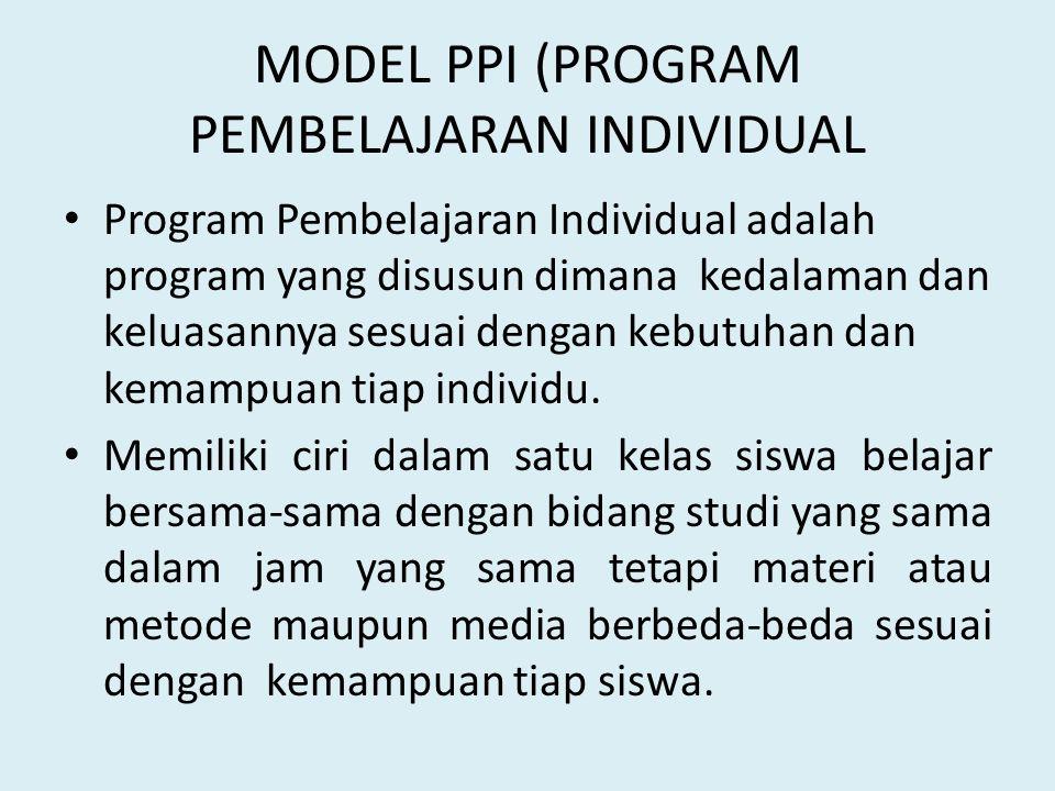 MODEL PPI (PROGRAM PEMBELAJARAN INDIVIDUAL
