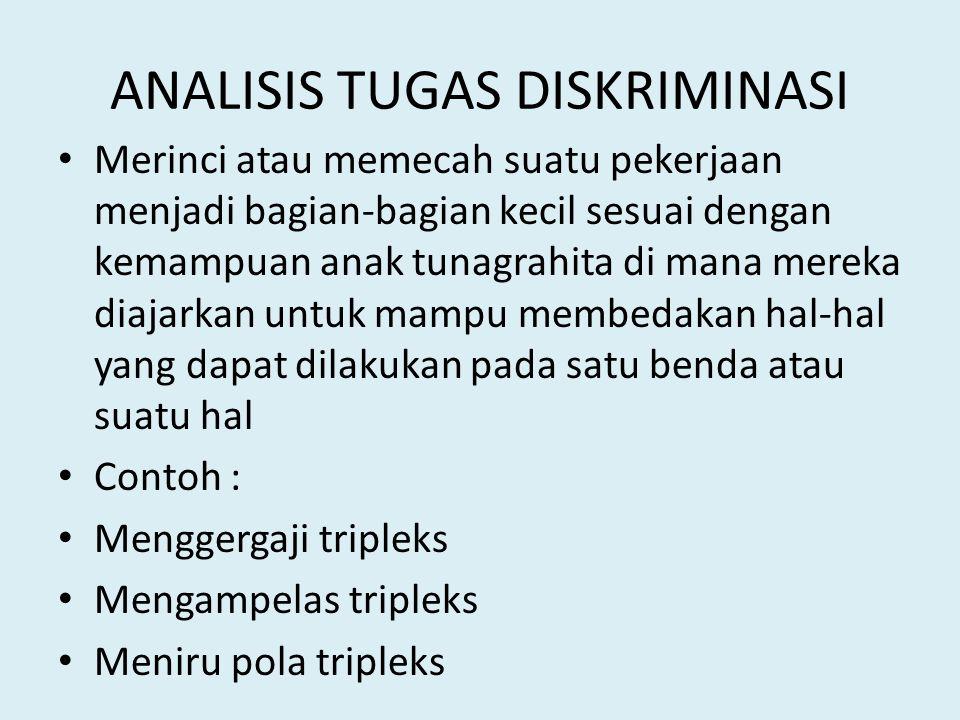 ANALISIS TUGAS DISKRIMINASI