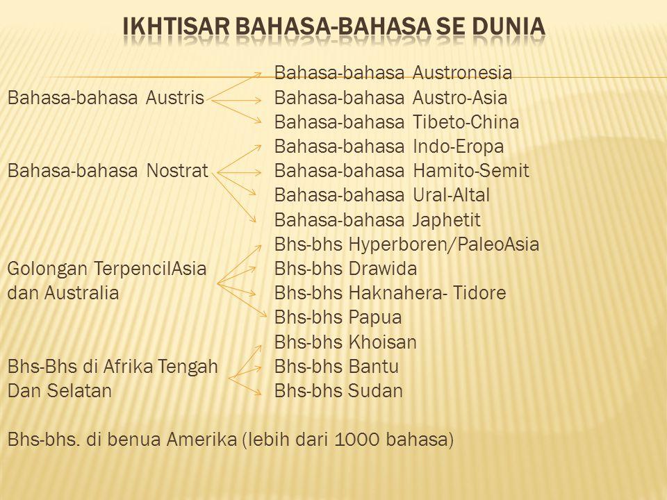 Ikhtisar bahasa-bahasa se dunia