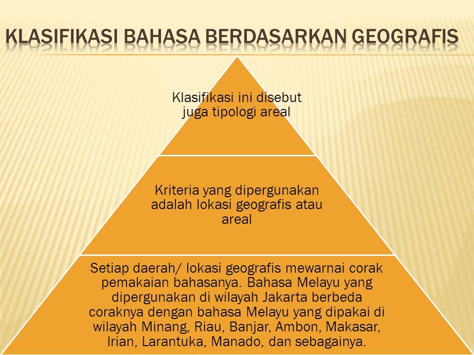 Klasifikasi bahasa Berdasarkan geografis
