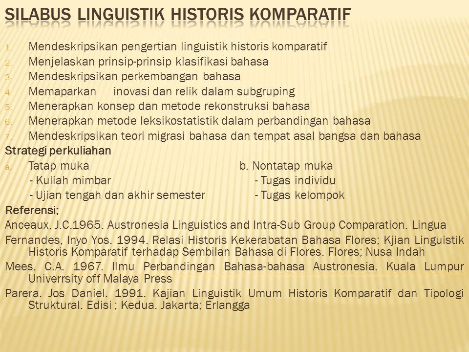 Silabus Linguistik Historis Komparatif