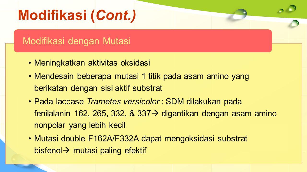 Modifikasi (Cont.) Modifikasi dengan Mutasi