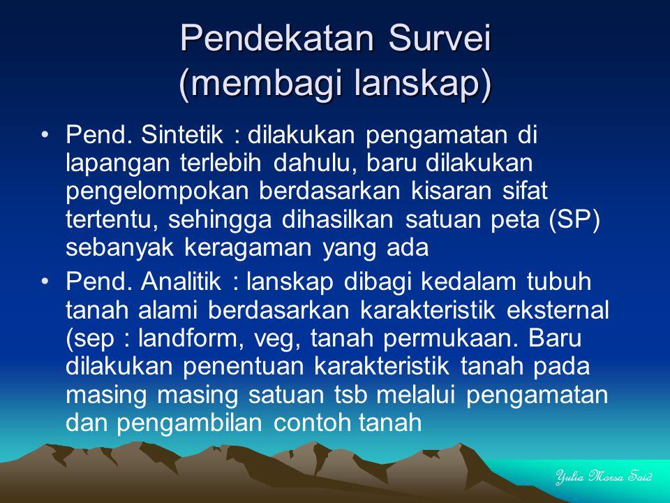 Pendekatan Survei (membagi lanskap)