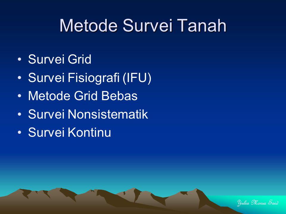 Metode Survei Tanah Survei Grid Survei Fisiografi (IFU)
