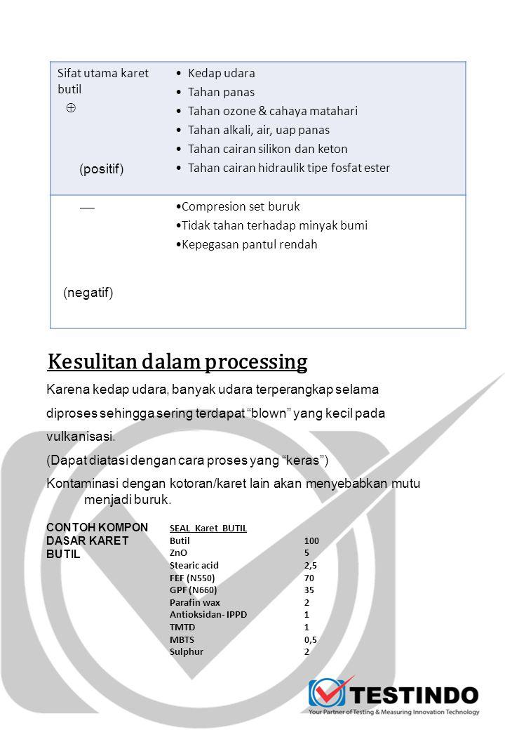 Kesulitan dalam processing