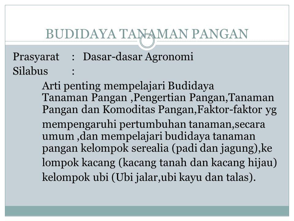 BUDIDAYA TANAMAN PANGAN