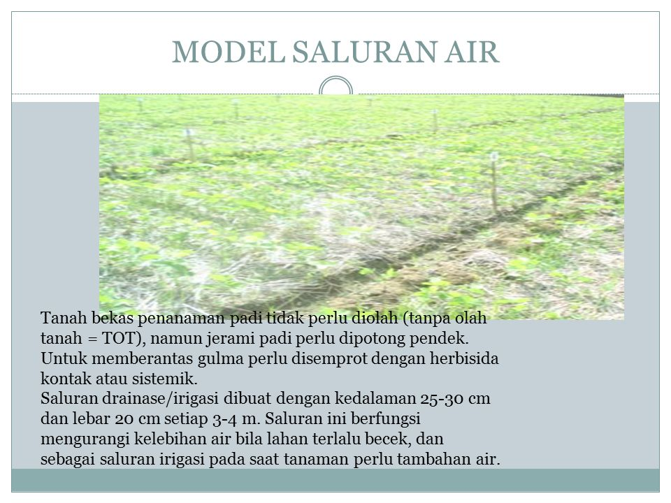 MODEL SALURAN AIR