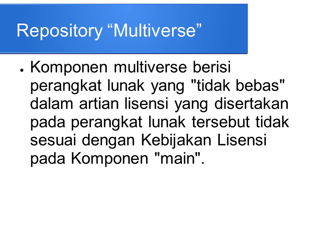 Repository Multiverse