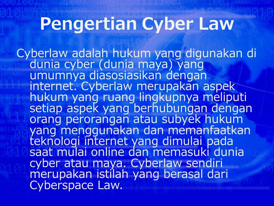 Pengertian Cyber Law