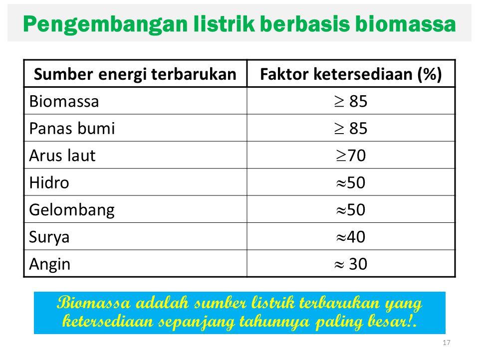 Pengembangan listrik berbasis biomassa