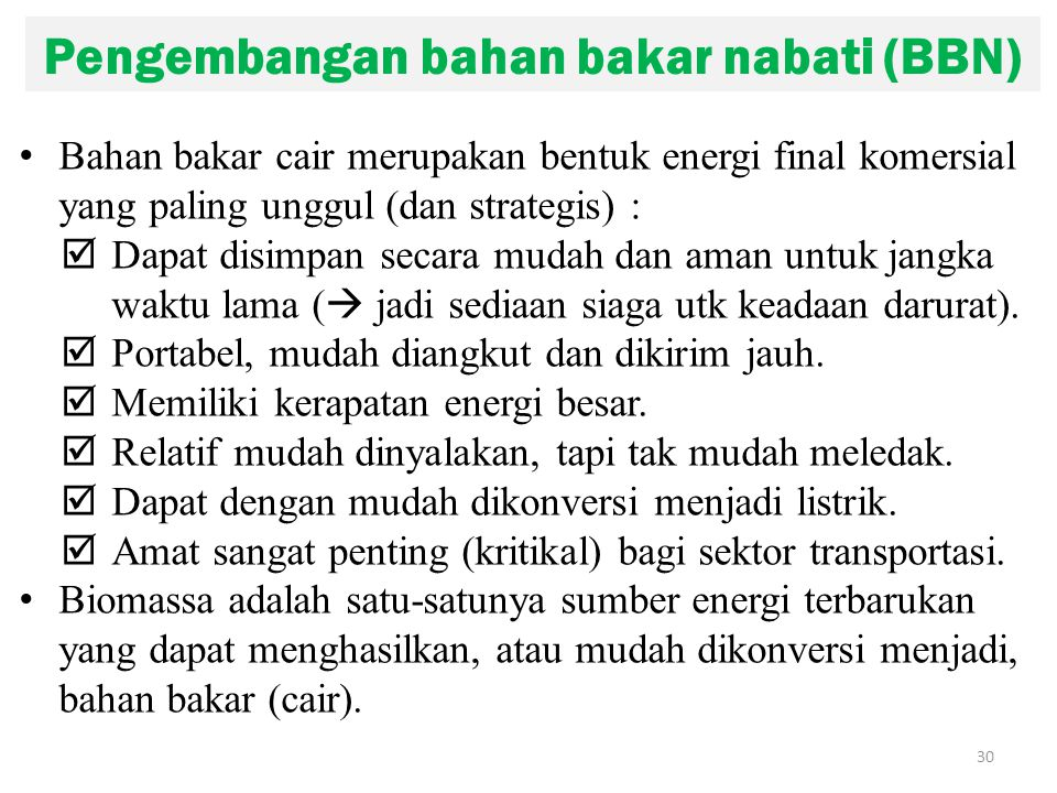 Pengembangan bahan bakar nabati (BBN)