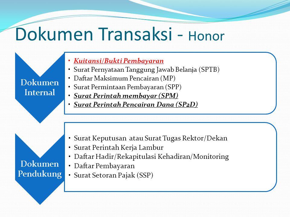 Dokumen Transaksi - Honor