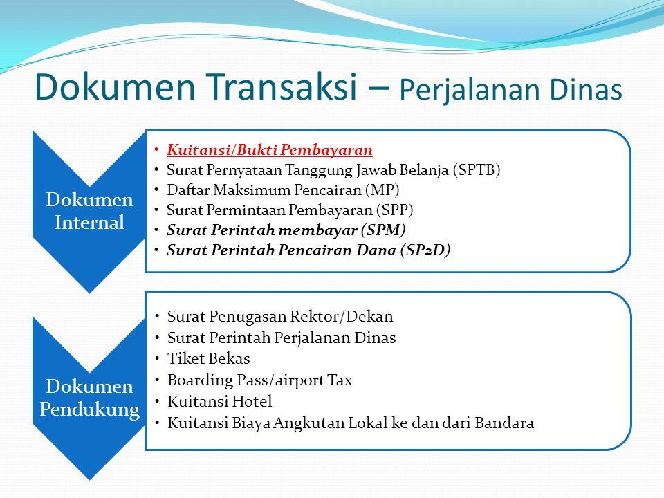 Dokumen Transaksi – Perjalanan Dinas